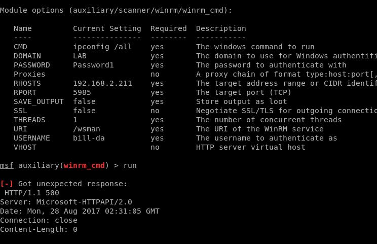 Using WinRM Through Meterpreter - TrustedSec